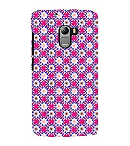 Fuson Premium Back Case Cover Floral Pattern With Blue Background Degined For Lenovo K4 Note