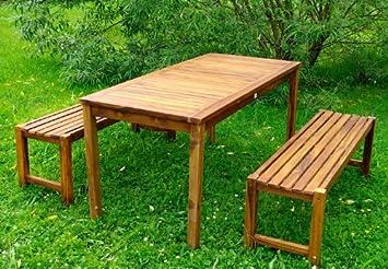 divero gartenm belset picknickset akazienholz bank tisch de4. Black Bedroom Furniture Sets. Home Design Ideas