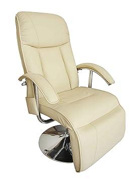 Massagesessel Fernsehsessel Relaxsessel TV Sessel WEIß
