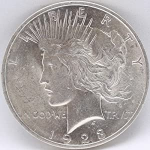 1923 Peace Silver Dollar Good Condition