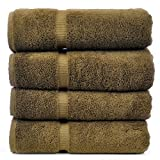 Luxury Hotel & Spa Towel 100% Genuine Turkish Cotton (Bath Towel - Set of 4, Cocoa)