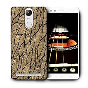 Snoogg Cream Leaves Pattern Printed Protective Phone Back Case Cover For Lenovo K5 Note