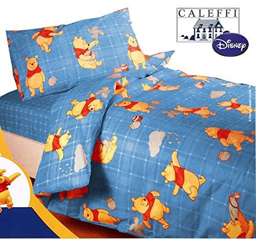 Completo Copripiumino UNA PIAZZA CALEFFI Disney Winnie the POOH FANTASY bluette