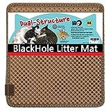 ブラックホール 二重構造 猫の砂取りマット 38cm x 33cm - 猫のトイレマット Beige