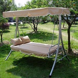 Luxus Loywe Hollywoodschaukel Gartenschaukel Beige LW10