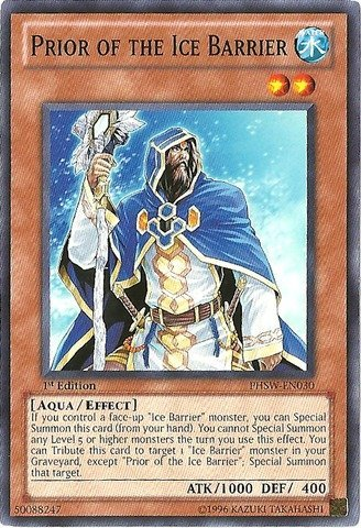 Yu-Gi-Oh! - Prior of the Ice Barrier (PHSW-EN030) - Photon Shockwave - 1st Edition - Common (Yugioh Ice Cards compare prices)