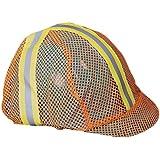 Mutual 13500-100 Mesh Safety Vest Reflective Hard Hat Cover, Orange