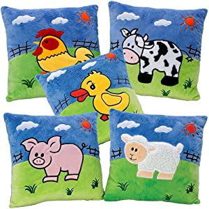 Farm Animal Pillow Pets : Amazon.com: Farm Animal Pillows (Set of 5): Toys & Games