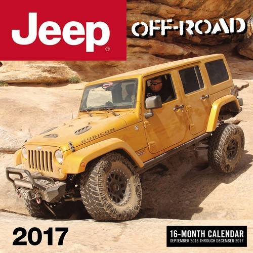Off-Road New Jeep Wrangler 2017 16-Month Calendar September 2016 through December 2017
