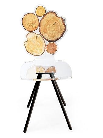 Chaise acrylique Quebec rondin de bois ~ Acrila