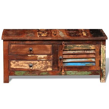 Anself Holzkommode Sideboard aus Holz mit Tur und Schubladen 90cmx38cmx40cm Handarbeit