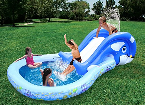 Banzai 01428 piscina slide n 39 splash whale pool con - Amazon piscine gonfiabili ...