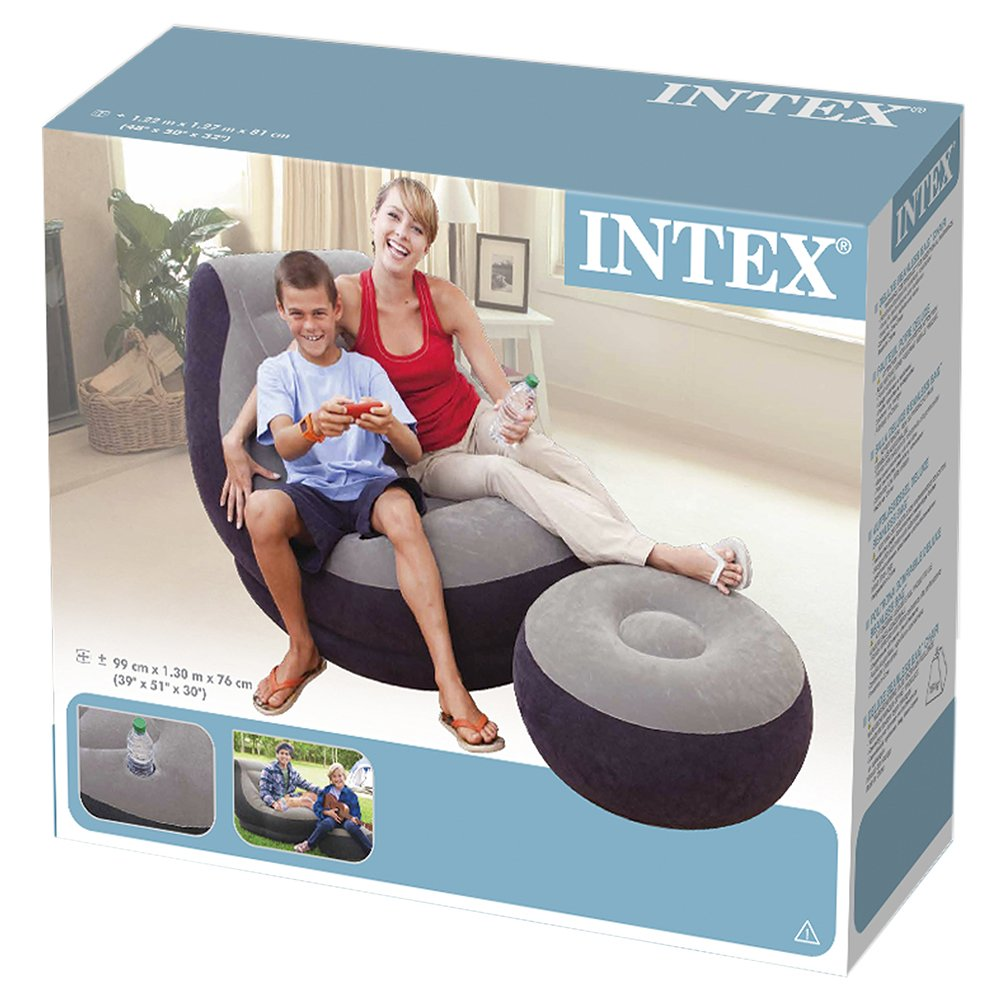 Inflatable Furniture Intex: Intex Inflatable Ultra Lounge With Ottoman , New, Free