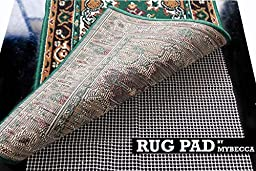 7 x 10 ft (Approx.) Super-Grip Non-Slip Protective Rug Pad and Slip Guard for Carpet, by MYBECCA