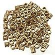 High Quality 100pcs/lot Brass Knurl Nuts M3 4mm(L)-4mm(OD) Metric Threaded Nuts Insert Round Shape