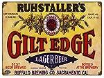 Vintage Ruhstallers Lager Beer Sign 9x12