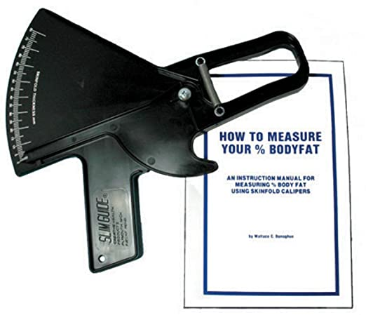 Slim Guide Skin Fold Caliper in Black with Booklet