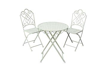 Plegable de té para dos muebles de jardín crema Country juego de en