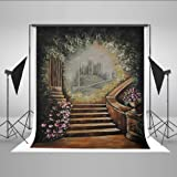 Kate 10x10ft Wedding Photography Background Microfiber Retro Stairs Backdrop Flower Photo Props (Color: J11553, Tamaño: 10x10ft)