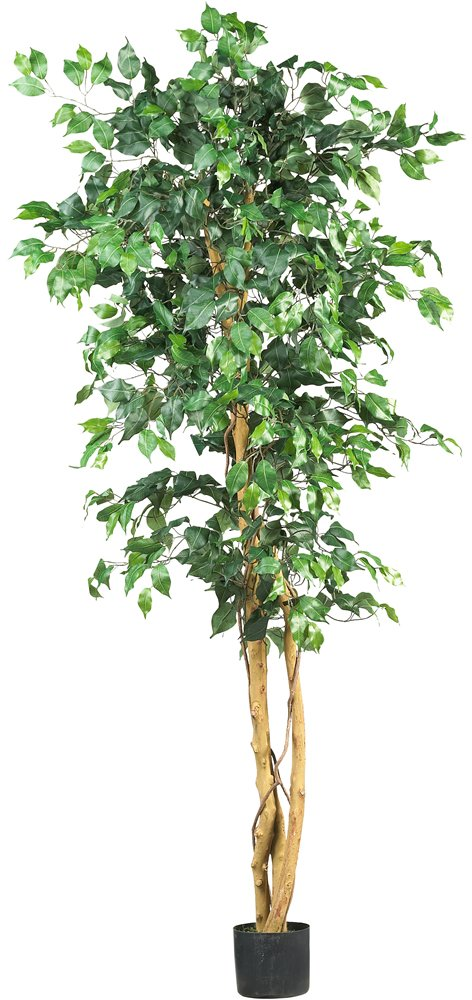 6 39 Large Artificial Ficus Silk Tree Fake Plant Potted Decor Yard Outdoor Indoor Ebay