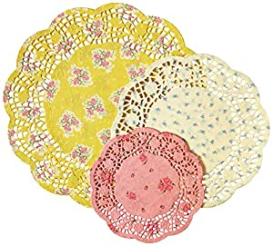 Talking Tables Truly Scrumptious Tea Party Doilies (24 Pack), Multicolor