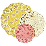 Talking Tables Truly Scrumptious Tea Party Doilies 1 pack (24 pieces), Multicolor