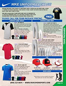 Nike Team Uniform Package (Call 1-800-327-0074 to order)