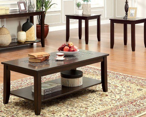 Solid Wood Coffee Table And End Table Sets - cover