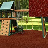 Swing set Playground Rubber Mulch 75 Cu.Ft. Pallet-Brick Red
