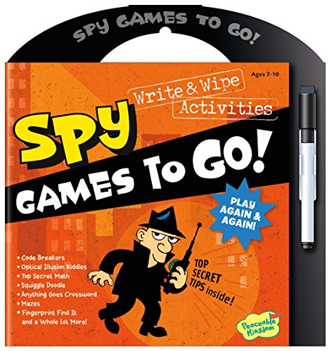Peaceable Kingdom Secret Spy Write and Wipe Games to Go! Activity Book (Gears Gears Gears Activity Book compare prices)