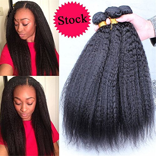 E-forest-hair-Weave-For-Women-7A-Virgin-100-Brazilian-Remy-Human-Hair-WeftWeave-Extension-Kinky-Straight-Natural-Black-Color-3-Bundles-300g-Size-10-10-10