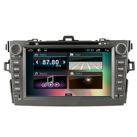 Top GPS Navi 8 pouces Android 4.2.2 PC de voiture Lecteur DVD pour Toyota Corolla 2008 2009 2010 2011 audio navigation GPS š€ šŠcran tactile Wifi Radio Bluetooth 1.2 Go DDR3 CPU capacitif voiture 3G stšŠrš&Sc
