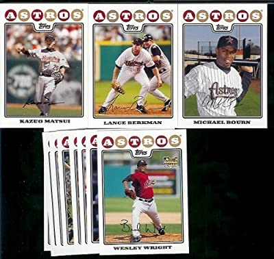Houston Astros Baseball Cards - 6 Years Of Topps Team Sets 2004,2005,2006,2007, 2008 & 2009 - Includes ALL regular issue Topps Cards For 6 Years - Includes Stars, Rookie Cards & More!