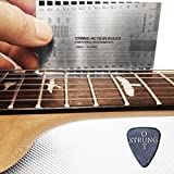 StrungOut Double Sided Multi Function String Action & Guitar Set Up Gauge Ruler ~ With User Guide, Free Plastic Holder & StrungOut Pick ~ Luthier Tool for Electric, Acoustic & Bass Guitars ~ Inch & Millimeters ~ UK