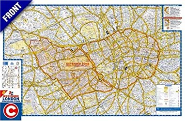 Flat Encapsulated Wall Map of London Congestion Zone