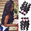 "#1 Best Seller BODY WAVE Brazilian 3 Bundle Pack GREAT DEAL ADD LACE CLOSURE 30% OFF Wavy Virgin Hair Weave Extensions 100 Human Hair GUARANTEED or MONEY BACK Sew-in or Convert to Clip-in 100g each (6 Color Options, 8""- 30"")"