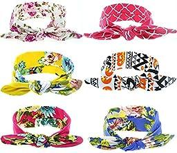 Mookiraer® Baby Girl Newest Turban Headband Newborn Girls Headband Bow Set (NW-3)