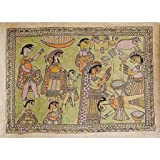 Indian Art Painting on Paper with Organic Color Madhubani 56 x 76 Cmsby ShalinIndia