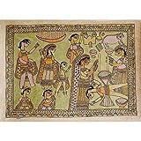 """Kunst aus Indien Malerei Madhubani Biologisches Farbpapier 56 x 76 cmvon """"ShalinIndia"""""""