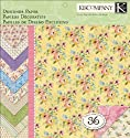 "Watercolor Bouquet Designer Paper Pad 12""X12""-36 Sheets"
