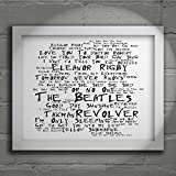 `Noir Paranoiac` Art Print - THE BEATLES - Revolver - Signed & Numbered Limited Edition Typography Wall Art Print - Song Lyrics Mini Poster