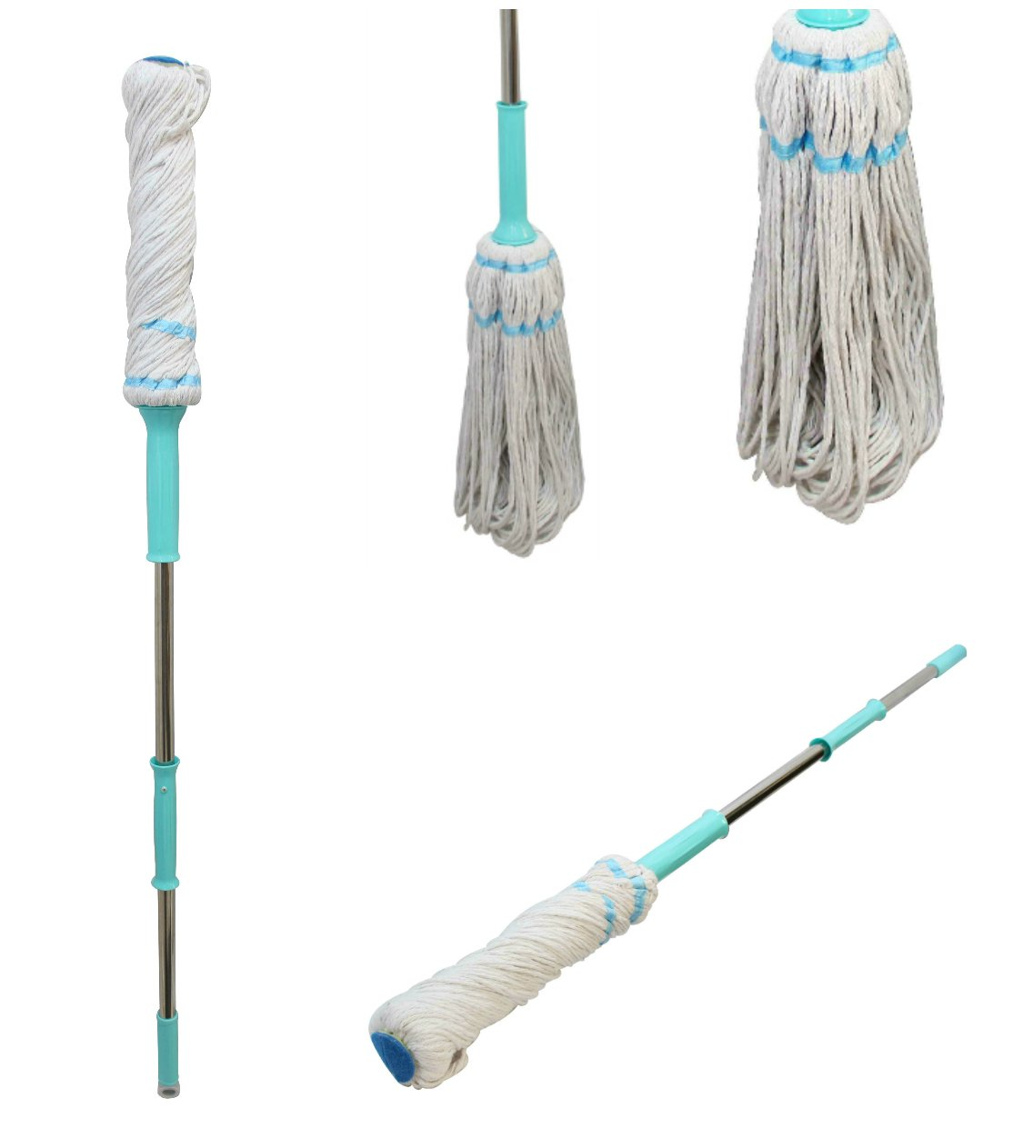 360 degree twist mop floor mop easy rotating squeeze mopping neat compact white ebay. Black Bedroom Furniture Sets. Home Design Ideas