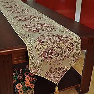 Dining Table Runners Sequined Lace Hotel Bed Coffee Table Runners