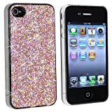 Snap-on Case Compatible With Apple iPhone 4 AT&T, Light Pink Bling