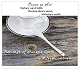 """Porlien White Porcelain Spoons, Teaspoons 6"""" set of 6-For Coffee, Tea, Yogurt, Ice-cream, Appetizers and Desserts, Well Fitting Coffee Mugs and Teacups"""