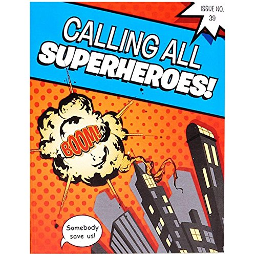 Superhero Comics Invitations (8)