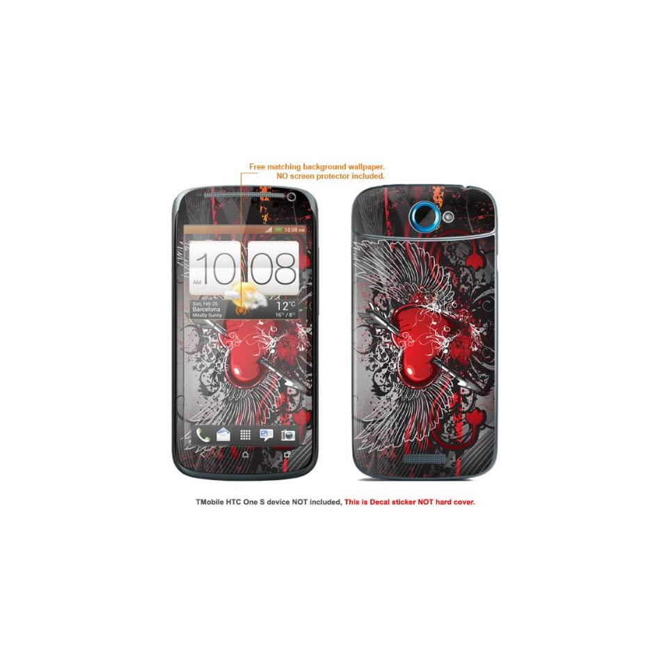 """Protective Decal Skin Sticker for T Mobile HTC ONE S """" T Mobile version"""" case cover TM_OneS 300 Cell Phones & Accessories"""