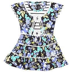 Rush Me Baby Girls' Dress (S.R.2017_7 Years, 7 Years, Sky)