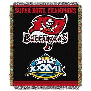 "NFL Tampa Bay Buccaneers Super Bowl XXXVII Champions 48""x60"" Blanket Throw"