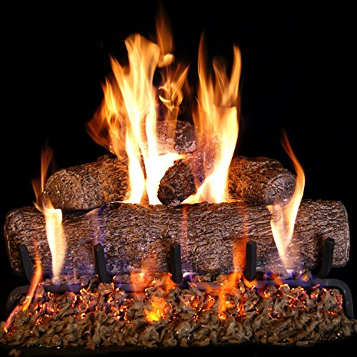 Peterson Real Fyre 24-inch Live Oak Log Set With Vented Burner, Match Lit (Natural Gas Only)